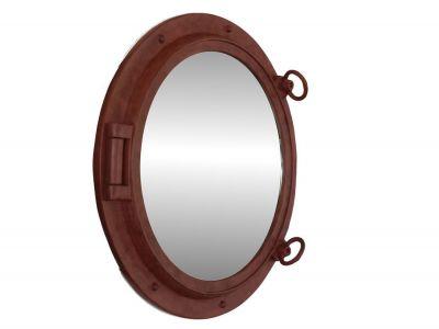 Rusted Iron Porthole Mirror 24