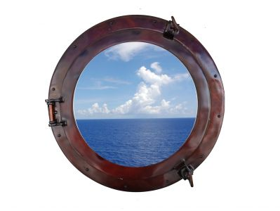 Deluxe Class Antique Copper Porthole Window 20
