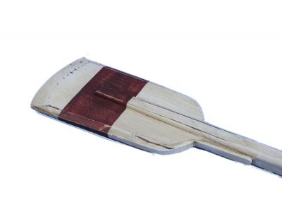 Wooden Rustic Manhattan Beach Squared Rowing Oar with Hooks 50