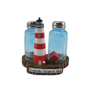 Sapelo Island Lighthouse Salt and Pepper Shakers 4""