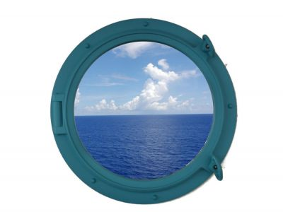 Light Blue Porthole Window 15