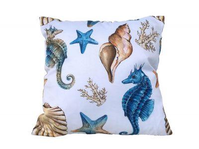 Decorative Coastal Coral Throw Pillow 16\