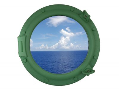 Seafoam Green Porthole Window 20