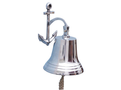 Chrome Hanging Anchor Bell 16