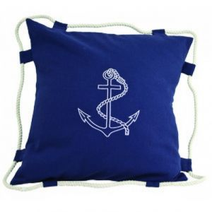 Navy Blue Anchor Pillow 15