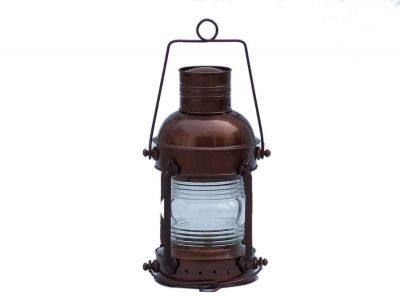 Antique Copper Anchor Oil Lantern 12