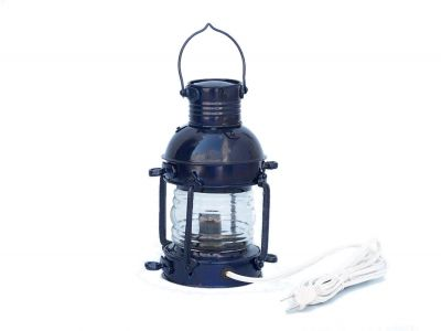 Iron Anchor Electric Lamp 12 - Dark Blue