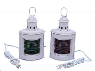 Iron Port and Starboard Electric Lamp 12 - White
