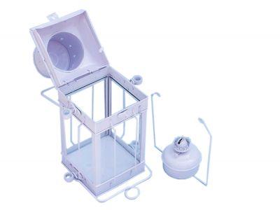 Iron Cargo Oil Lamp 18 - White