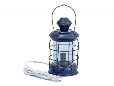 Iron Admiral Nelson Electric Lamp 12 - Dark Blue