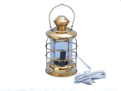 Solid Brass Admiral Nelson Electric Lamp 12