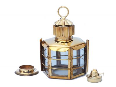 Solid Brass Clipper Oil Lamp 11