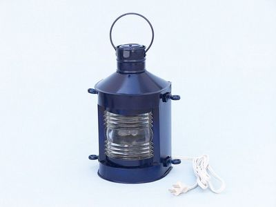 Iron Masthead Electric Lamp 12 - Dark Blue