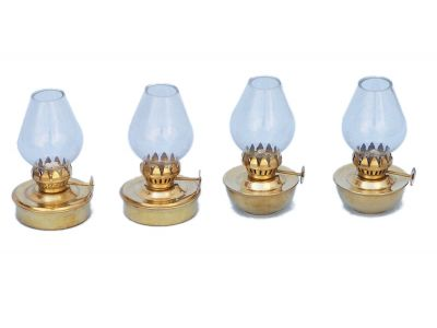 Solid Brass Table Oil Lamp 5\