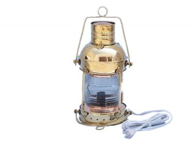 Solid Brass Anchormaster Electric Lantern 15