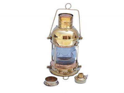 Solid Brass Anchormaster Oil Lantern 15