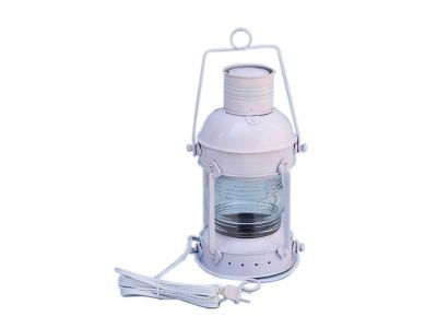 Iron Anchormaster Electric Lantern 15 - White