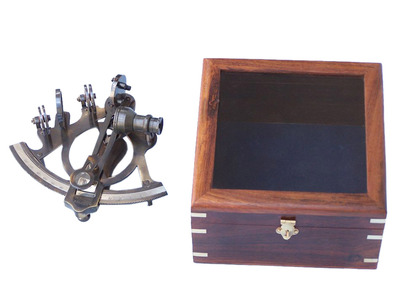 Antiqued Brass Sextant 7