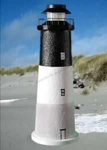 Oak Island Stucco Solar Landscape Lighthouse 24