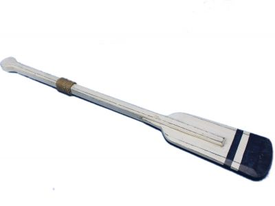 Wooden Rustic Stone Harbor Squared Rowing Oar w- Hooks 36