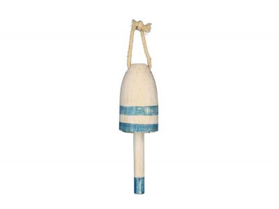 Wooden Vintage Light Blue Lobster Trap Buoy 7