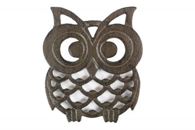 Cast Iron Owl Trivet 8\