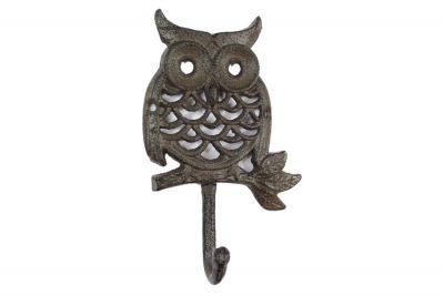 Cast Iron Owl Hook 6\