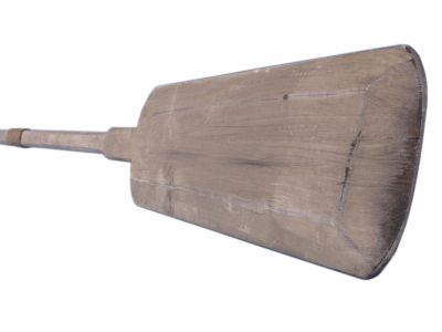 Wooden Rustic Whitewashed Marblehead Squared Oar 62 with Hooks