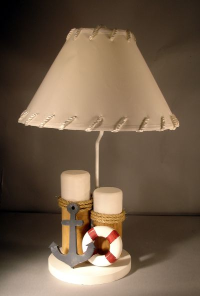 Piling with Anchor-Life Ring Electric Lamp 28