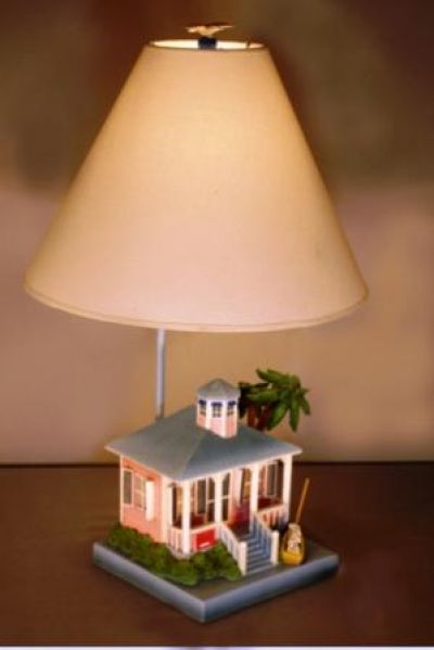 Pink Beach House Electric Lamp 24