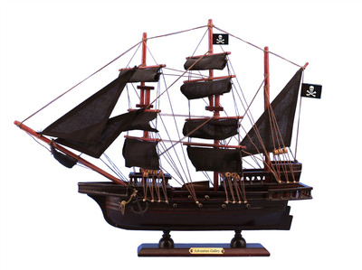 Wooden Captain Kidd's Adventure Galley Model Pirate Ship 15""