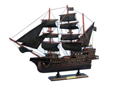 Wooden Black Bart\'s Royal Fortune Model Pirate Ship 15""