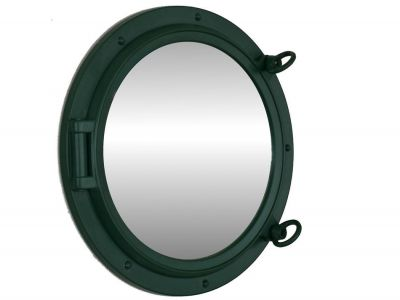 Seaworn Green Decorative Ship Porthole Mirror 15""