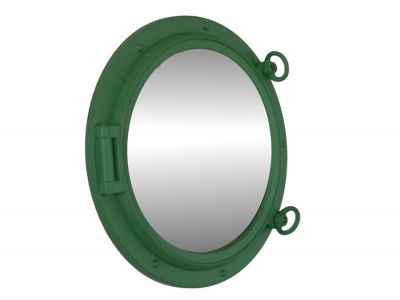 Seafoam Green Porthole Mirror 15