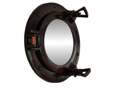 Antique Copper Deluxe Class Porthole Mirror 8\