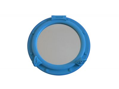 Light Blue Porthole Mirror 24