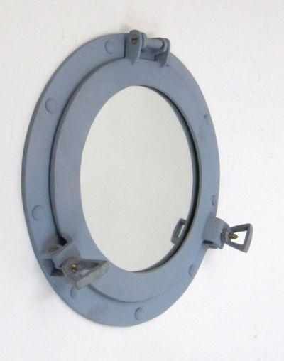 Aluminum Battleship Grey Porthole Mirror 11