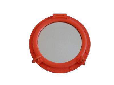 Orange Porthole Mirror 24