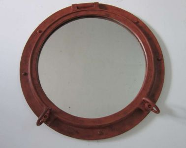 Rusted Iron Porthole Window 24