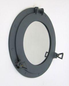 Aluminum Battleship Grey Porthole Mirror 15