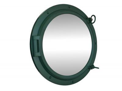 Seaworn Green Porthole Mirror 24