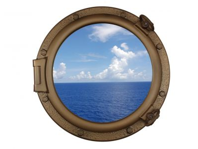 Bronzed Porthole Window 20