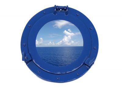 Brass Deluxe Class Porthole Window 12 - Dark Blue