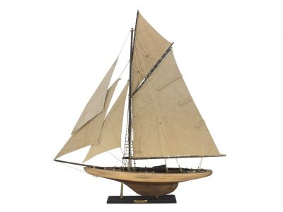 Wooden Rustic Columbia Model Sailboat Decoration Limited 30""