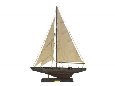 Wooden Rustic Endeavour Limited Model Sailboat Decoration 27""