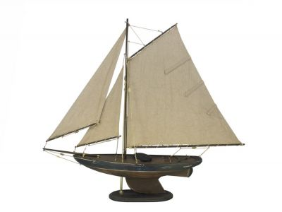 Wooden Rustic Newport Sloop Model Sailboat Decoration 30\