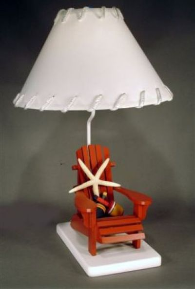 Red Beach Chair Electric Lamp 29