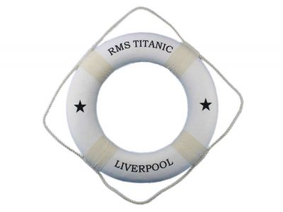 RMS Titanic Decorative Lifering 20 - White