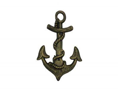 Antique Gold Cast Iron Anchor Hook 8\