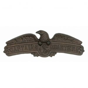 Rustic Cast Iron Captain Quarters with Eagle Sign 16